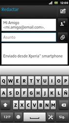 Sony Xperia U - E-mail - Escribir y enviar un correo electrónico - Paso 7