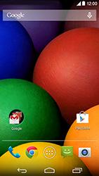 Motorola Moto E (1st Gen) (Kitkat) - Rede móvel - Como ativar e desativar uma rede de dados - Etapa 2