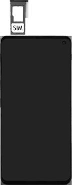 Samsung Galaxy S10e - Toestel - simkaart plaatsen - Stap 4