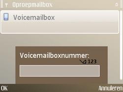 Nokia E72 - Voicemail - handmatig instellen - Stap 7