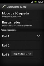 Sony Xperia E - Red - Seleccionar una red - Paso 10