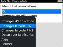 BlackBerry 9320 - Sécuriser votre mobile - Personnaliser le code PIN de votre carte SIM - Étape 8