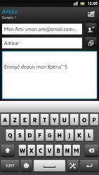 Sony LT26i Xperia S - E-mail - Envoi d