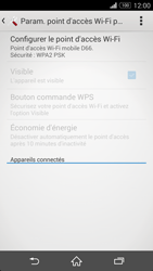 Sony Xpéria Z3 - Internet et connexion - Partager votre connexion en Wi-Fi - Étape 11