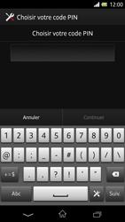 Sony Xpéria Z - Sécuriser votre mobile - Activer le code de verrouillage - Étape 7