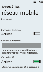 HTC C110e Radar - Internet - activer ou désactiver - Étape 5