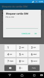 Sony Xperia Z3 Plus - Segurança - Como ativar o código PIN do cartão de telemóvel -  7
