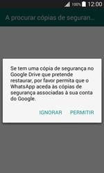 Samsung Galaxy J1 - Aplicações - Como configurar o WhatsApp -  9