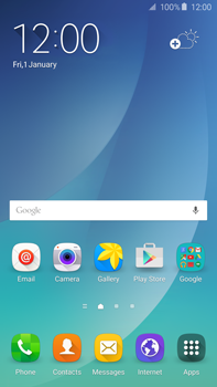Samsung N920 Galaxy Note 5 - Applications - Create an account - Step 1