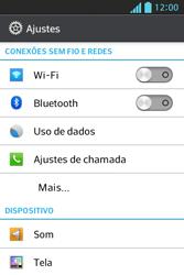 LG E612 Optimus L5 - Wi-Fi - Como configurar uma rede wi fi - Etapa 4