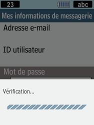 Samsung C3590 - E-mails - Ajouter ou modifier un compte e-mail - Étape 13