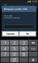 Samsung Galaxy Trend Plus - Segurança - Como ativar o código PIN do cartão de telemóvel -  8