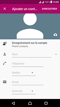 Sony Xperia L1 - Contact, Appels, SMS/MMS - Ajouter un contact - Étape 10