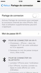 Apple iPhone 5c - Internet et connexion - Partager votre connexion en Wi-Fi - Étape 5
