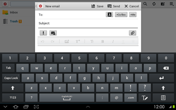 Samsung P5100 Galaxy Tab 2 10-1 - Email - Sending an email message - Step 5