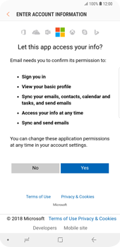 Samsung Galaxy S9 Plus - E-mail - Manual configuration (outlook) - Step 8