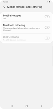 Samsung galaxy-s9-plus-android-pie - Internet - Set up mobile hotspot - Step 6