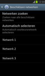 Samsung I8190 Galaxy S III Mini - Netwerk - Handmatig een netwerk selecteren - Stap 9