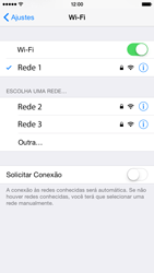 Apple iPhone iOS 8 - Wi-Fi - Como configurar uma rede wi fi - Etapa 7