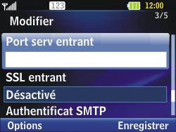 LG C320 InTouch Lady - E-mail - Configuration manuelle - Étape 19