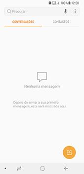 Samsung Galaxy A8 (2018) - SMS - Como configurar o centro de mensagens -  4