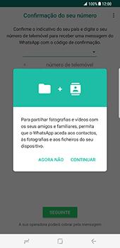 Samsung Galaxy S8 Plus - Aplicações - Como configurar o WhatsApp -  6