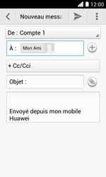 Huawei Ascend Y330 - E-mail - envoyer un e-mail - Étape 7