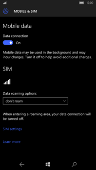 Microsoft Lumia 950 XL - Internet - Enable or disable - Step 6