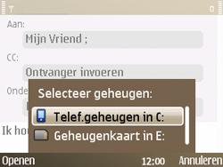 Nokia E72 - E-mail - e-mail versturen - Stap 9