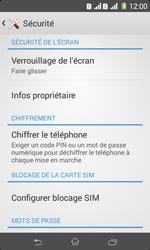 Sony Xpéria E1 Dual - Sécuriser votre mobile - Activer le code de verrouillage - Étape 5