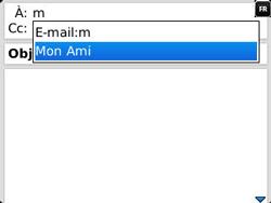 BlackBerry 9320 Curve - E-mail - Envoi d
