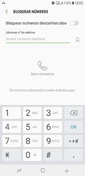 Samsung Galaxy J6 - Chamadas - Como bloquear chamadas de um número específico - Etapa 7