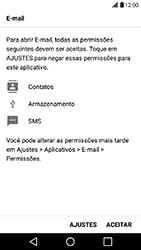 LG X Power - Email - Como configurar seu celular para receber e enviar e-mails - Etapa 11