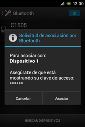 Sony Xperia E - Bluetooth - Conectar dispositivos a través de Bluetooth - Paso 7