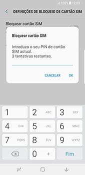 Samsung Galaxy S8 - Android Oreo - Segurança - Como ativar o código PIN do cartão de telemóvel -  8