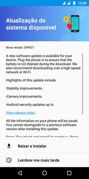 Motorola Moto G6 Plus - Funções básicas - Como atualizar o software do seu aparelho - Etapa 6