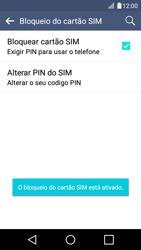 LG K4 - Segurança - Como ativar o código PIN do cartão de telemóvel -  10