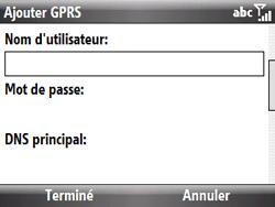 HTC S521 Snap - Internet - Configuration manuelle - Étape 8
