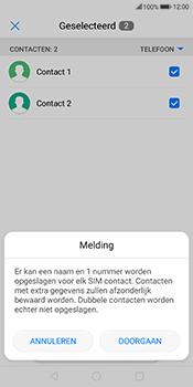 Huawei Mate 10 Lite (Model RNE-L21) - Contacten en data - Contacten kopiëren van toestel naar SIM - Stap 8
