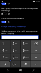 Microsoft Lumia 550 - SMS - Manual configuration - Step 7