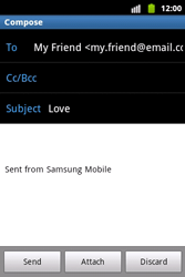 Samsung S5690 Galaxy Xcover - Email - Sending an email message - Step 8