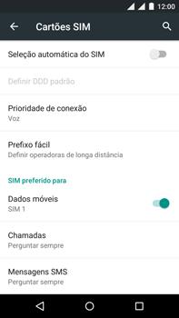 Motorola Moto X Play - Rede móvel - Como ativar e desativar uma rede de dados - Etapa 6