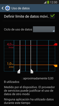 Samsung Galaxy Note 3 - Internet - Ver uso de datos - Paso 11