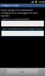 Samsung I9070 Galaxy S Advance - E-mail - Configurer l