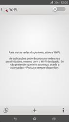 Sony Xperia E4 - Wi-Fi - Como ligar a uma rede Wi-Fi -  5