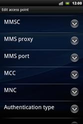 Sony Ericsson Xperia Mini Pro - Mms - Manual configuration - Step 9