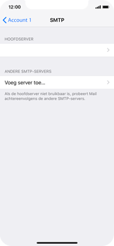 Apple iPhone XS - E-mail - Account instellen (POP3 met SMTP-verificatie) - Stap 20