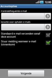 Samsung S5660 Galaxy Gio - E-mail - handmatig instellen - Stap 13