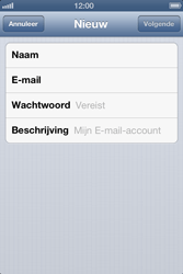 Apple iPhone 4 S - E-mail - Handmatig instellen - Stap 9