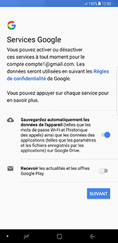 Samsung Galaxy Note 8 - Applications - Créer un compte - Étape 18